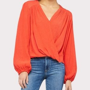 Free People Check on It Wrap Top NWT